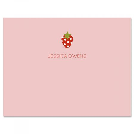 Baby Strawberry Personalized Note Cards