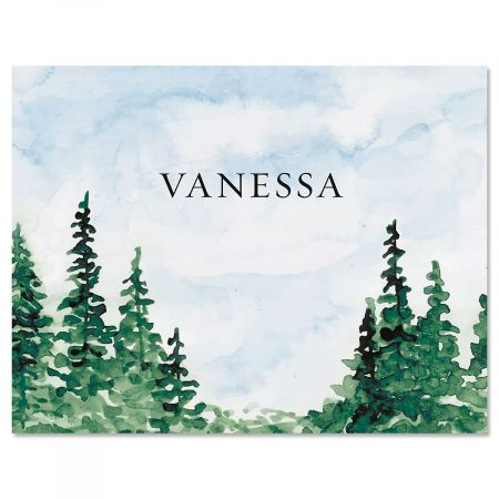 Watercolor Forest Personalized Note Cards