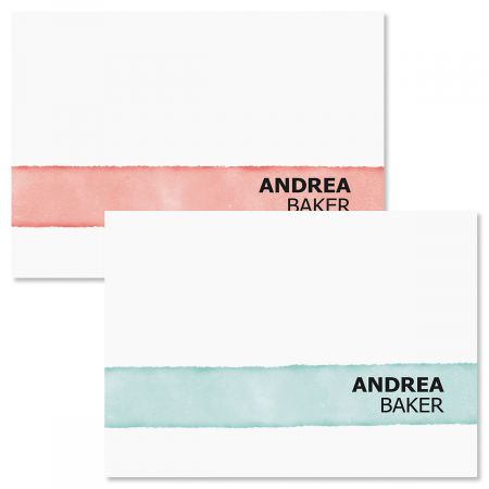 Watercolor Wash Personalized Note Cards