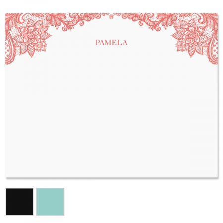 Amelia Lace Personalized Note Cards