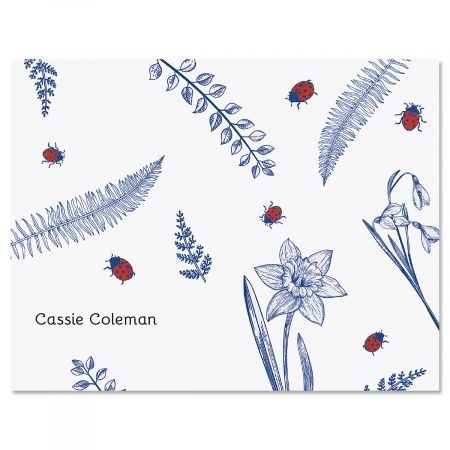 Dainty Ladybug Personalized Note Cards