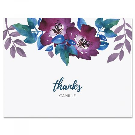 Camila Floral Personalized Note Cards