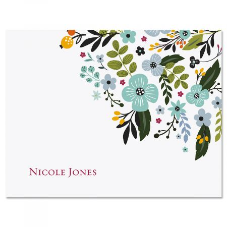 Aubrey Floral Personalized Note Cards