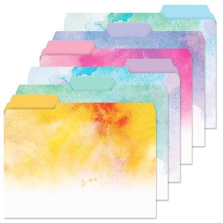 Brushstrokes File Folders Value Pack