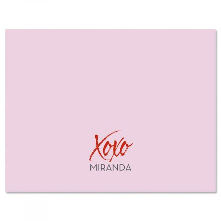 Hugs & Kisses Personalized Note Cards