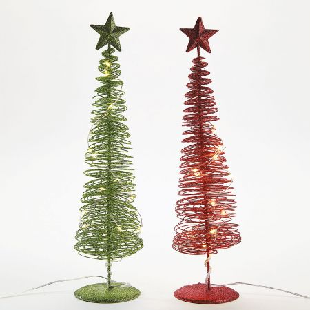 Wire LED Christmas Trees
