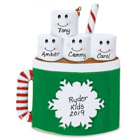 Marshmallow Mug Personalized Ornament