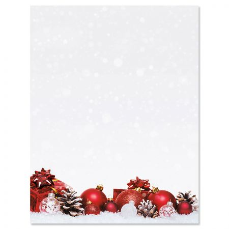 Christmas Present Christmas Letter Papers