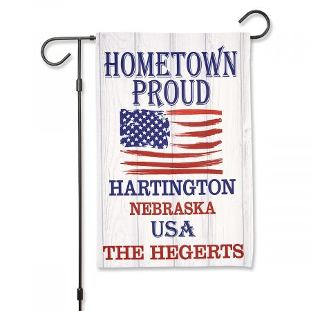 Hometown Proud Personalized Garden Flag Hometown Proud Personalized Garden Flag