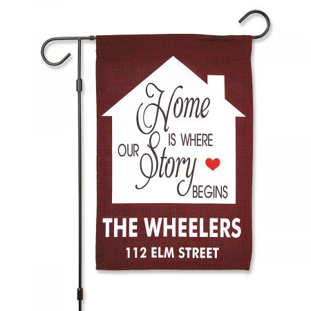House Personalized Garden Flag