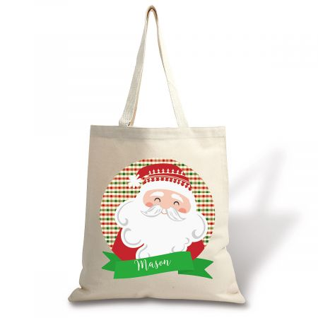 Personalized From Santa Canvas Tote