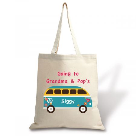 Going To Kids Personalized Canvas Tote