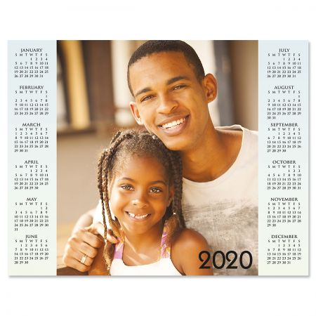 Year at a Glance Personalized Photo Calendar - black text