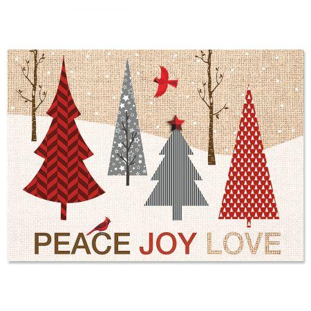Cardinal Forest Christmas Cards