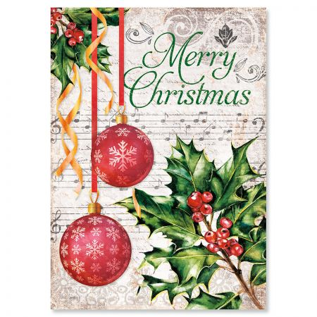 Music & Ornaments Christmas Cards