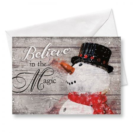 Snowman Believe Christmas Cards