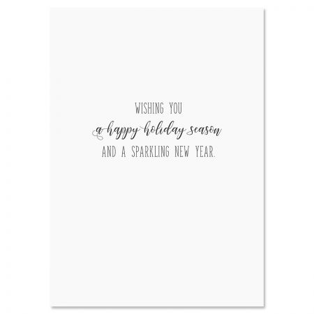 Lights Deluxe Foil Christmas Cards