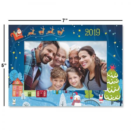 Santa's In Town Photo Sleeve Christmas Cards