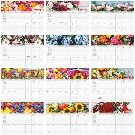 2021 A Year of Flowers Big Grid Planning Calendar