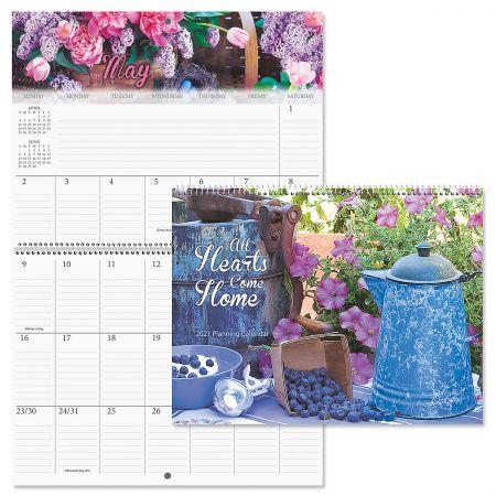 2021 All Hearts Come Home Big Grid Planning Calendar