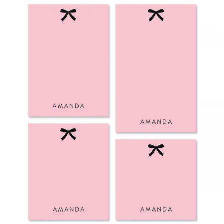 Paris Ribbon Personalized Notepad Sets