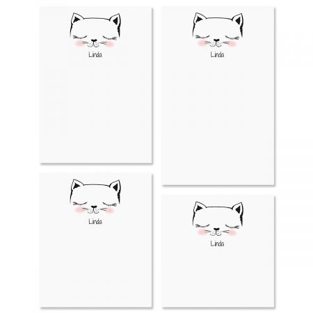Kitty Ears Personalized Notepad Sets