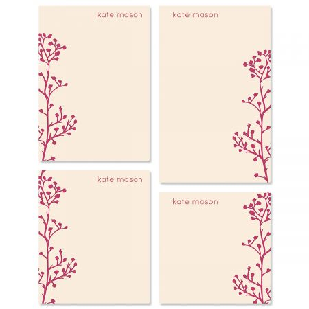 Babys Breath Personalized Notepad Sets