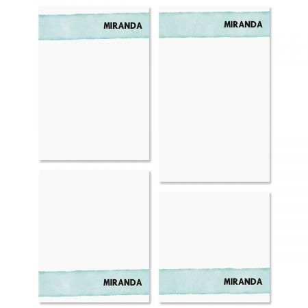 Watercolor Wash Personalized Notepad Sets