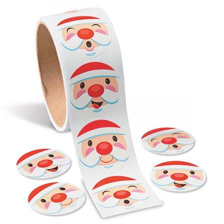 Santa-Face Stickers