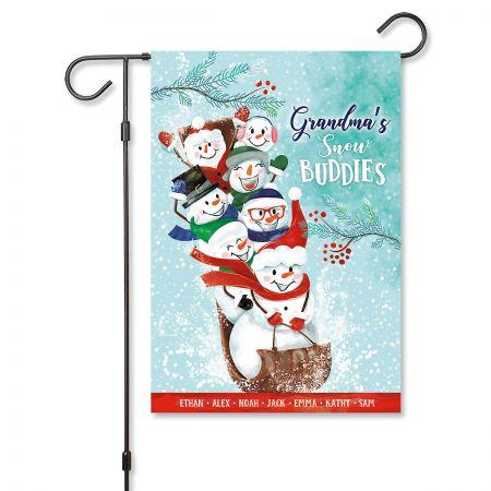 Grandma's Sled Garden Flag - 7 Names Grandma's Sled Garden Flag - 7 Names