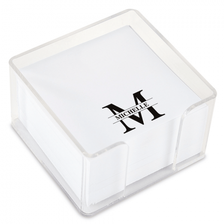 Front & Center Personalized Note Sheets in a Cube