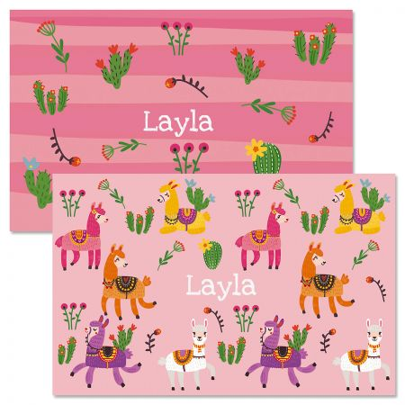 Llamas Personalized Kids' Placemat