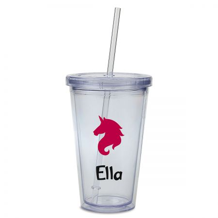 Unicorn Acrylic Personalized Beverage Cup
