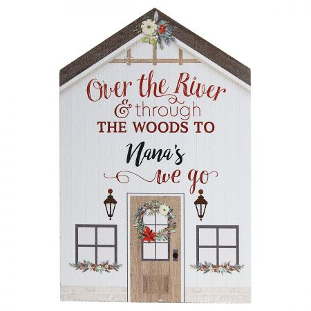 Over the River Personalized Plaque