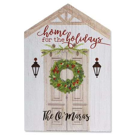 Home for the Holidays Personalized Plaque