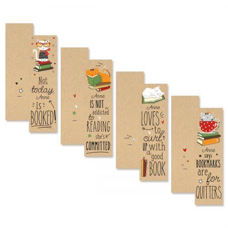 Cats & Books Personalized Bookmarks