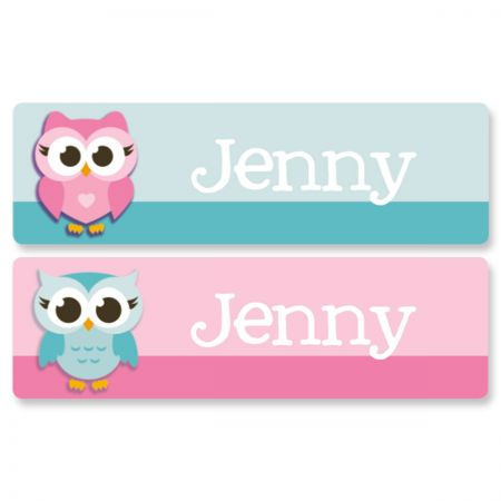 Personalized Little Owls Name Stickers