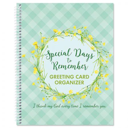 Faith Greeting Card Organizer