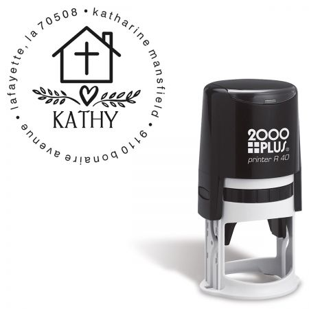 Cross Personalized Round Self-Inking Address Stamp