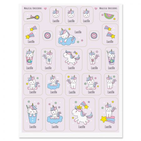 Personalized Magical Unicorns Stickers