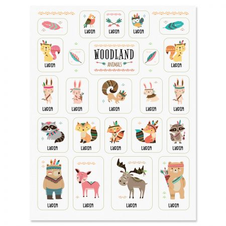 Personalized Woodland Animals Stickers