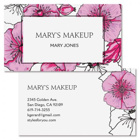 Blush Poppy Double-Sided Business Card