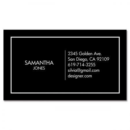 Black Modern Minimal Standard Business Card