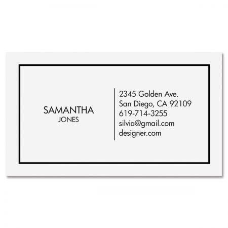 White Modern Minimal Standard Business Card