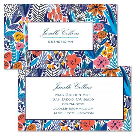 Sketch Garden Double-Sided Business Card
