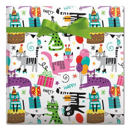 Cats Jumbo Rolled Gift Wrap