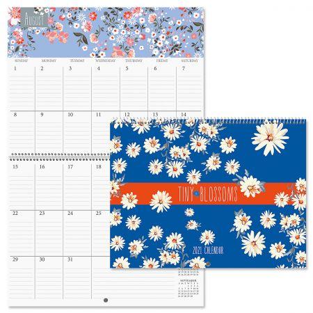 2021 Tiny Blossoms Big Grid Planning Calendar