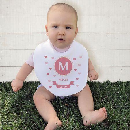 Initial Baby Personalized Bib