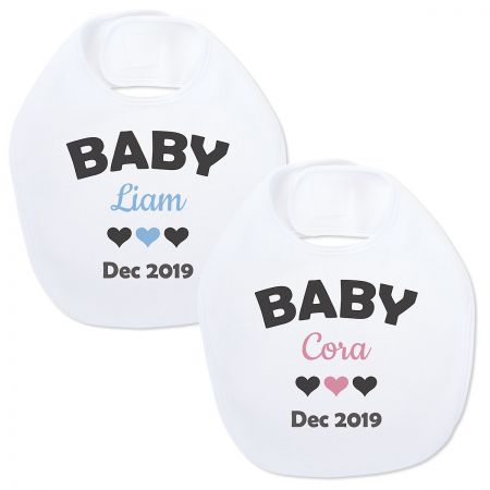 Baby Announcement Personalized Bib