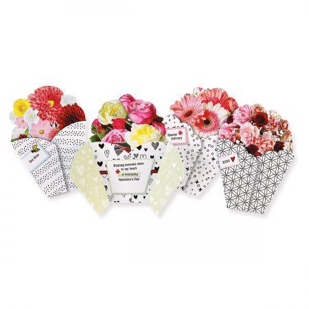 Bouquet Valentine Diecut Cards